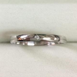 ★サイズ18号★プラチナPt900ダイヤモンドリング0.015ct★甲丸タイプ★(リング(指輪))