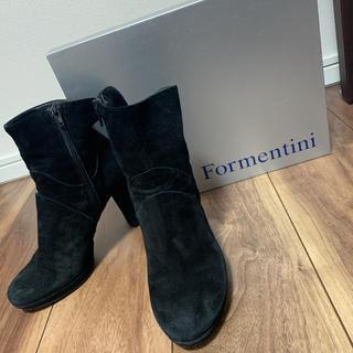ユナイテッドアローズ(UNITED ARROWS)のFormentini イタリア製 百貨店購入品 牛革 フェードショートブーツ 黒(ブーツ)