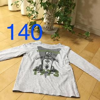 ティンバーランド(Timberland)のtimberland   140 グレー長袖Tシャツ バイク柄 ティンバーランド(Tシャツ/カットソー)