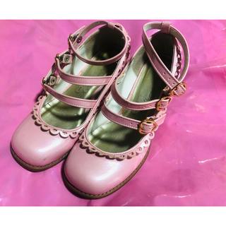 メタモルフォーゼタンドゥフィーユ(metamorphose temps de fille)のメタモルフォーゼ 靴 ピンク Sサイズ(ハイヒール/パンプス)