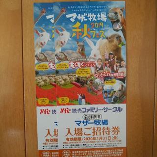 マザー牧場招待券4枚(動物園)