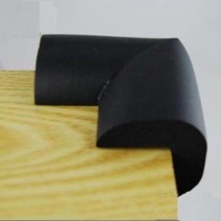 コーナーパッド 4個セット 【薄手タイプ】取付テープ付 (ブラック)(コーナーガード)