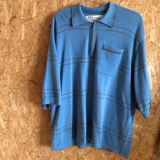 アンユーズド(UNUSED)のDAIRIKU 19ss half zip border polo knit (ポロシャツ)