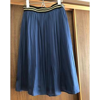 グリーンレーベルリラクシング(green label relaxing)のランダムプリーツスカート(ひざ丈スカート)