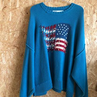 サンシー(SUNSEA)のdairiku inside out america knit ニット19aw(ニット/セーター)