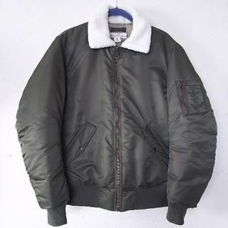 エイチアンドエム(H&M)のメンズフライトジャケットミリタリーb-15 ma-1ライダース中綿防寒(フライトジャケット)