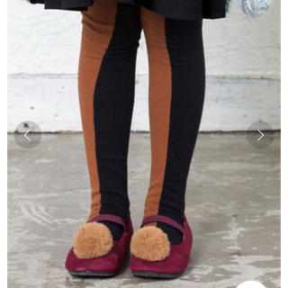 エフオーキッズ(F.O.KIDS)のアプレレクール*ベビー*バイカラータイツ*90-100(靴下/タイツ)