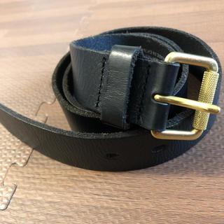 ギャップ(GAP)のGAP 牛革 ベルト 黒 XS(ベルト)