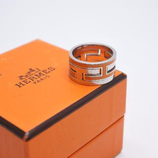 エルメス(Hermes)のHERMES エルメス ムーブアッシュ リング オレンジ シルバー 925 50(リング(指輪))