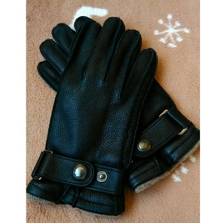 バーニーズニューヨーク(BARNEYS NEW YORK)のバーニーズ ニューヨーク レザー カシミヤ 手袋 超美品 週末セール (手袋)