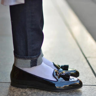 チャーチ(Church's)のchurch's チャーチ パテント タッセル エナメル(ローファー/革靴)