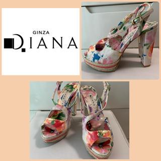 DIANA - ダイアナ フラワーエナメル サンダル