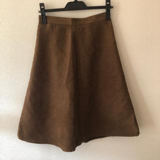 ジーユー(GU)のスエード調 Aラインスカート(ひざ丈スカート)