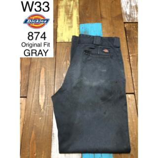 Dickies - 39647 アメリカ 輸入 USED ディッキーズ 874 グレー W33