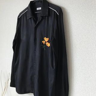 エディション(Edition)のEDITION  サテン シャツ ドレスシャツ 刺繍(シャツ)