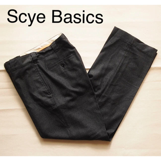 サイ(Scye)の【てけてけ様専用】Basics ウール ワイド トラウザーズ チャコール 31(スラックス)