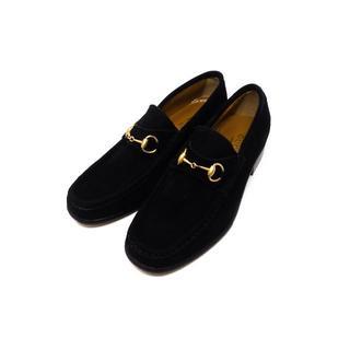 グッチ(Gucci)のグッチ ホースビットローファー スエード ブラック サイズ36(ローファー/革靴)