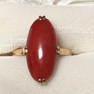 k18 赤珊瑚 リング(リング(指輪))