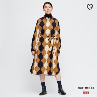 マリメッコ(marimekko)のUNIQLO × Marimekko イエロー ワンピース(ひざ丈ワンピース)
