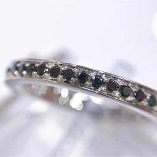 K18WG ブラックダイヤモンド エタニティリング(リング(指輪))