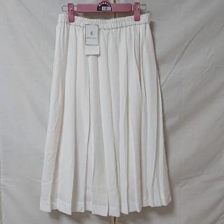 ロペピクニック(Rope' Picnic)のロペピクニック プリーツスカート 新品 白 M(ロングスカート)