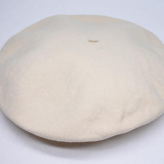 CHANEL - CHANEL シャネル ホワイト ベレー帽 アイボリー ココマーク帽子 98