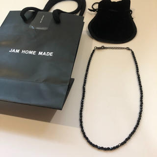 JAM HOME MADE & ready made - JAM HOME MADE ブラック ビーズ ネックレス ストーン ガルニ