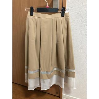 ソワール(SOIR)の東京ソワール シフォン切り替え タックフレア スカート(ひざ丈スカート)