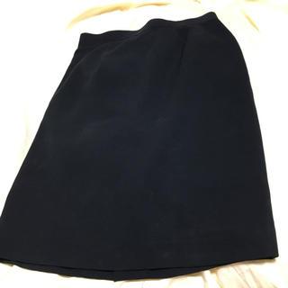 タイトスカート  ブラック L(ひざ丈スカート)