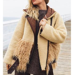 アリシアスタン(ALEXIA STAM)のalexiastam ボアフライトジャケット(毛皮/ファーコート)