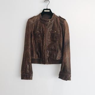 ダブルスタンダードクロージング(DOUBLE STANDARD CLOTHING)の牛革 レザージャケット 新品未使用(ライダースジャケット)