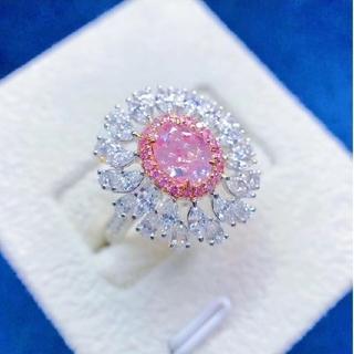 GIA♡1.01ct L.Pinkish.Brownダイヤモンドリング(リング(指輪))