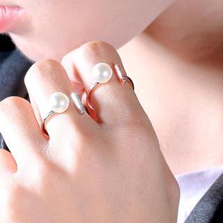 アーバンリサーチ(URBAN RESEARCH)のR02「ひと粒パールTリング」指輪 同時購入割引あり☆(リング(指輪))