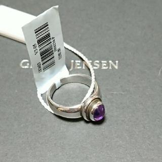 Georg Jensen - 廃盤 未使用 ジョージジェンセン 46C アメジスト リング10号 定価$250