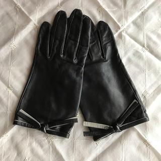 ユナイテッドアローズ(UNITED ARROWS)の美品 ☆ MARIO PORTOLANO マリオポルトラーノ レザー グローブ(手袋)