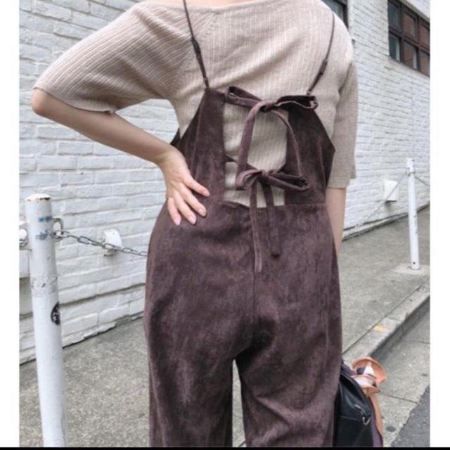 Kastane(カスタネ)の☆19AW 今期新作 完売品 Kastane フェイクスウェードサロペット レディースのパンツ(サロペット/オーバーオール)の商品写真