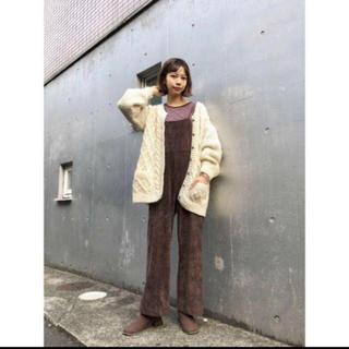 カスタネ(Kastane)の☆19AW 今期新作 完売品 Kastane フェイクスウェードサロペット(サロペット/オーバーオール)