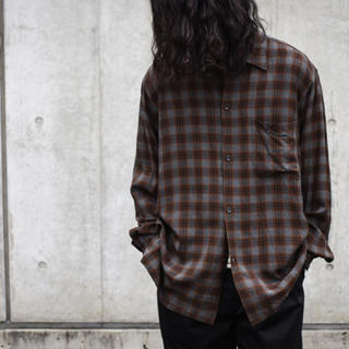 コモリ(COMOLI)のCOMOLI コモリ レーヨンオープンカラーシャツ サイズ1 2019ss(シャツ)