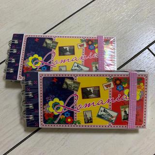 ルーマニア土産 メモ帳 2個セット(ノート/メモ帳/ふせん)