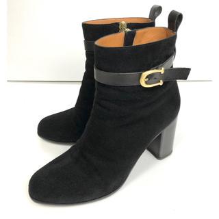 サルトル(SARTORE)の37 SARTORE サルトル スエード ショート ブーツ  黒 24(ブーツ)