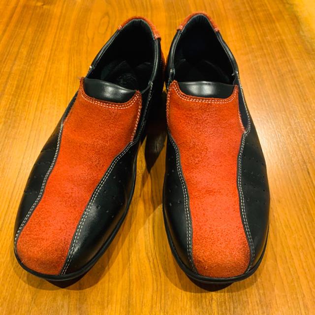 Cole Haan(コールハーン)のコールハーン  レザースニーカー ローファー 27-27.5cm 黒赤 91/2 メンズの靴/シューズ(スニーカー)の商品写真