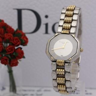 クリスチャンディオール(Christian Dior)の正規品【新品電池】Christian Dior オクタゴン/コンビ グレー(腕時計)