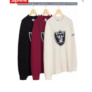 シュプリーム(Supreme)のsupreme  raiders thermal  黒 Lサイズ(Tシャツ/カットソー(七分/長袖))