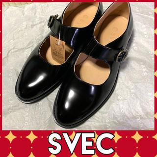 ✩新品✩ SVEC シュベック ストラップ マニッシュ シューズ(ローファー/革靴)