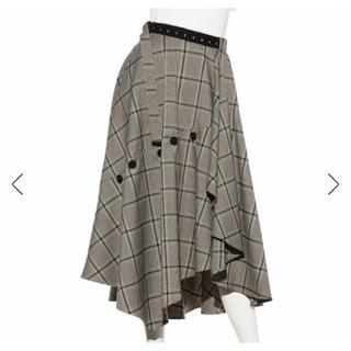 フレイアイディー(FRAY I.D)のFRAY I.D チェックツィードスカート(ロングスカート)