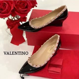 ヴァレンティノ(VALENTINO)の1285 美品 ヴァレンティノ スタッズ パンプス バイカラー(ハイヒール/パンプス)