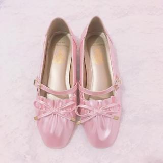 アンジェリックプリティー(Angelic Pretty)のBacioBouquet Tiffany リボンパンプス ピンク(ローファー/革靴)