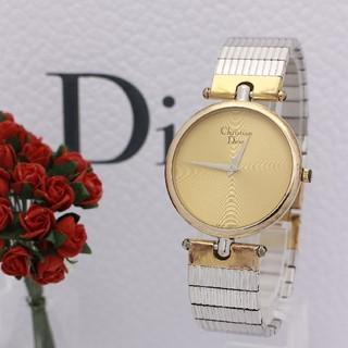 クリスチャンディオール(Christian Dior)の正規品【新品電池】Christian Dior ゴールド/ラウンド 稼働OK(腕時計)