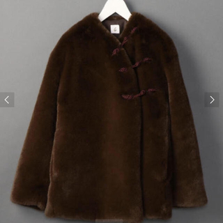 BEAUTY&YOUTH UNITED ARROWS - ロク6☆FAKE FUR CHINA OUTER 新品タグ有り ブラウン完売