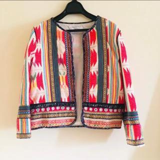 ベルシュカ(Bershka)のBershka 個性的刺繍ジャケット(テーラードジャケット)